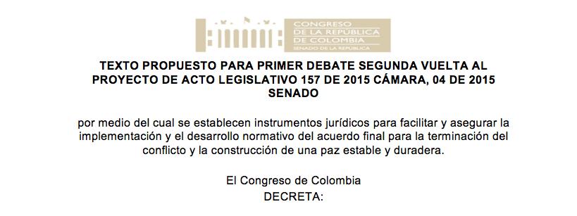 """Texto de la Reforma Constitucional para """"blindar acuerdos"""" de La Habana"""