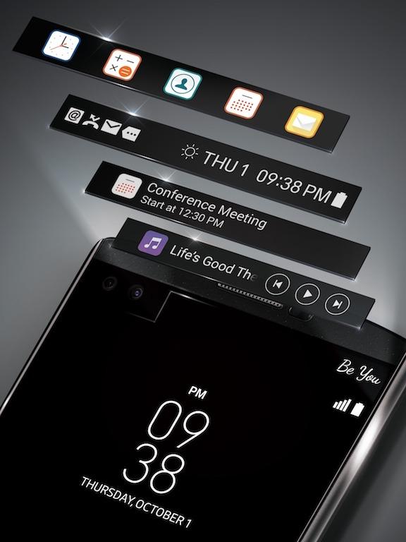 LG V10, smartphone con dos cámaras frontales y dos pantallas