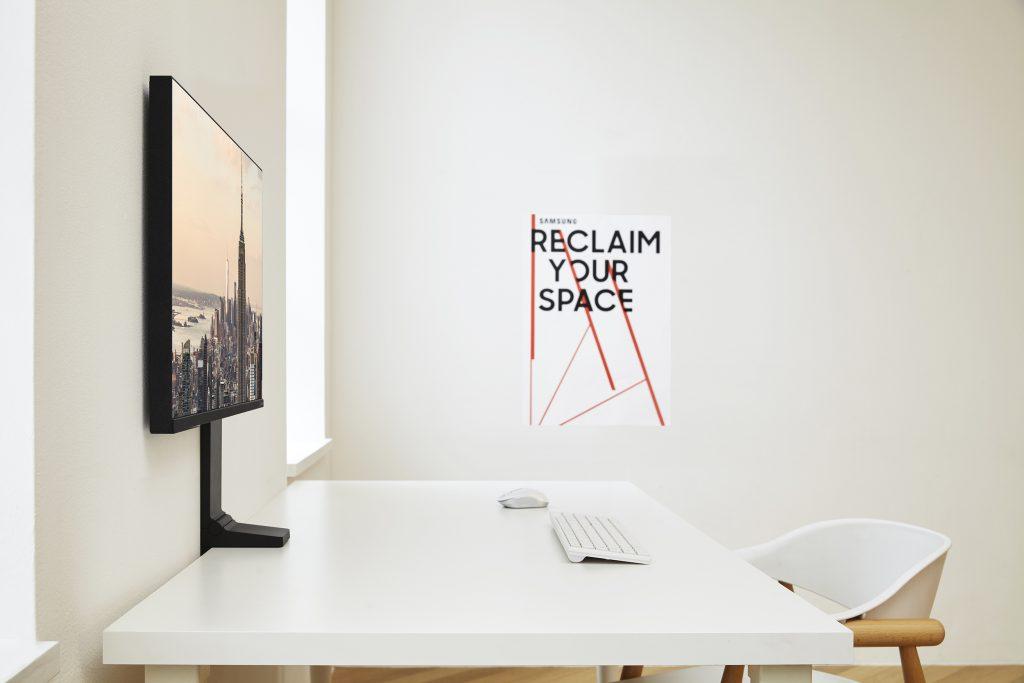 Space Monitor de Samsung, la pantalla ideal para el escritorio de trabajo