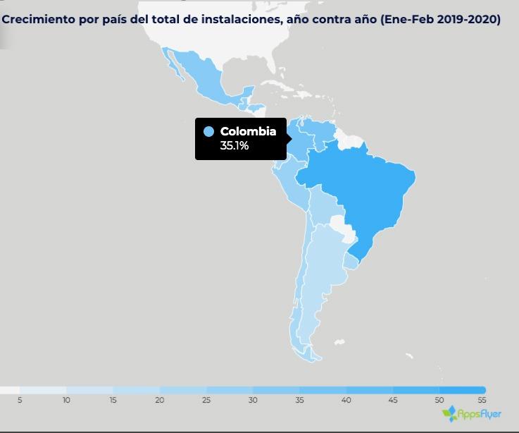 AppsFlyer revela que la instalación de apps creció 29,3% en América Latina
