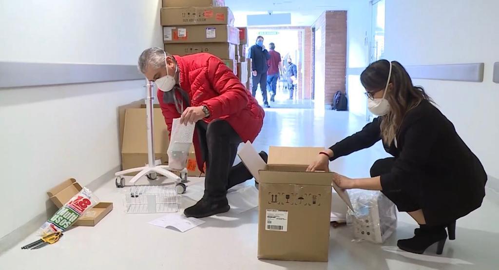 Llegan a Bogotá 78 nuevas unidades de cuidados intensivos donadas por el sector privado